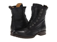 Frye Veronica Combat Black Soft Vintage Leather Women's Lace Up Boots