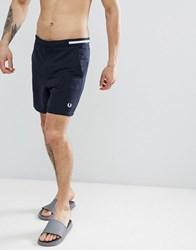 Fred Perry Riviera Tape Swim Shorts In Navy