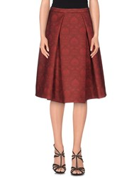 So Nice Skirts Knee Length Skirts Women Maroon