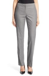 Women's Halogen 'Taylor Meteor' Stretch Straight Leg Suit Pants Grey White Pattern