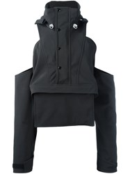 Christopher Shannon Deconstructed Anorak Jacket Black