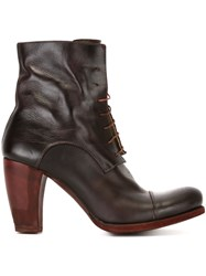 Ma High Heel Lace Up Boots Red