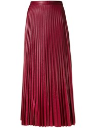 Golden Goose Deluxe Brand Maxi Pleated Skirt Women Polyester S Pink Purple