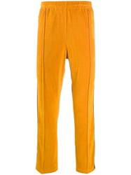 Needles Textured Side Stripe Track Pants Yellow