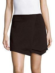 Saks Fifth Avenue Red Asymmetrical Wrap Skort White