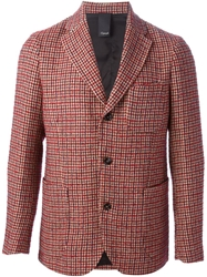 People Houndstooth Pattern Jacket Red