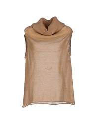 Les Copains Knitwear Turtlenecks Women Camel