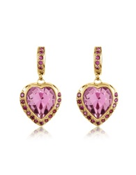 A Z Collection Heart Drop Earrings Gold
