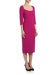 Dolce And Gabbana Scoopneck Cady Sheath Bright Pink