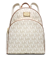 Michael Kors Jet Set Travel Logo Backpack Vanilla