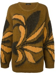 Roberto Collina Floral Print Jumper Yellow And Orange