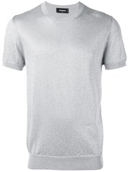 Dsquared2 Short Sleeve Knit Metallic