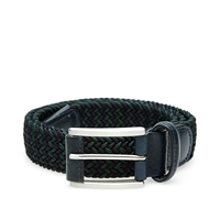 Andersons Anderson's Woven Textile Belt Navy And Green