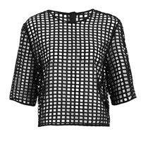 Finders Keepers Women's New Line Top Lattice Black