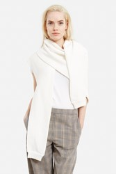 Christophe Lemaire Asymmetrical Scarf Chalk