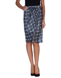 Finders Keepers Knee Length Skirts Slate Blue