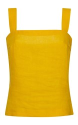 Rossella Jardini Mixed Ribbon Crop Top Open Sided Bow Shoulder Yellow