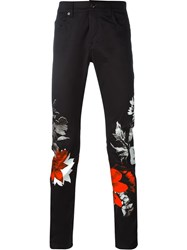 Mcq By Alexander Mcqueen Mcq Alexander Mcqueen Floral Collage Print Trousers Black