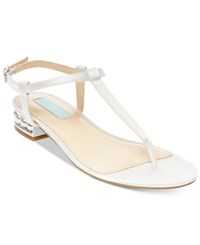 Blue By Betsey Johnson Evie T Strap Evening Sandals Women's Shoes Ivory