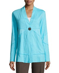 Neon Buddha Forever Jacket With Coconut Buttons Vallry Turquoise