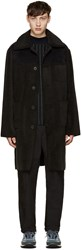Opening Ceremony Black Faux Shearling Coat