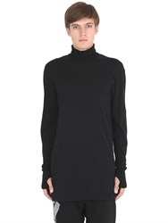 11 By Boris Bidjan Saberi Turtleneck Cotton Jersey T Shirt