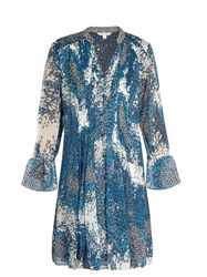 Diane Von Furstenberg Kourtni Dress Blue White