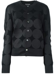 Comme Des Garcons Junya Watanabe Jacquard Button Down Cardigan Black