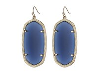 Kendra Scott Danielle Earrings Gold Navy Cat's Eye Earring Blue