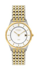 Rotary Gb08001 02 Gold And Silver Mens Watch