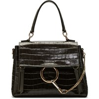 Chloe Brown Croc Small Faye Day Bag