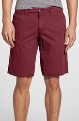 Men's Original Paperbacks 'St. Barts' Raw Edge Shorts Red Polo