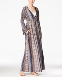 American Rag Printed Maxi Dress Only At Macy's Navy Multi