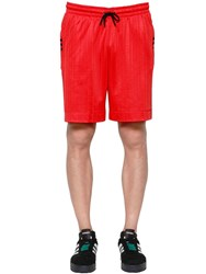 Adidas By Alexander Wang Aw Logo Jacquard Track Shorts Orange
