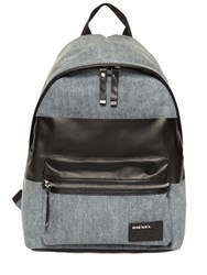 Diesel Denim Backpack With Coated Stripe