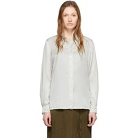 Raquel Allegra Off White Sateen Everyday Blouse