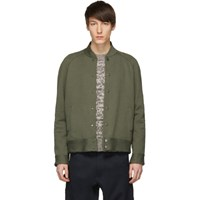 Harris Wharf London Green Raglan Bomber Jacket