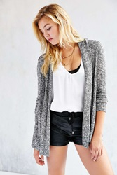 Bdg Milo Open Cardigan Black And White