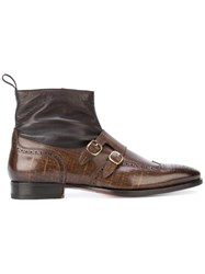 Santoni Buckled Boots Brown
