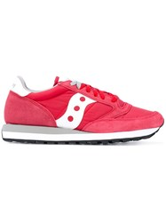Saucony Jazz Original Sneakers Unisex Cotton Leather Foam Rubber 6.5 Red