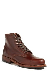 Wolverine Men's 'Adrian' Cap Toe Boot Brown Leather