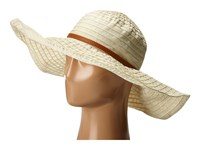 San Diego Hat Company Rbxl291 6 Inch Brim Gold Shimmer Ribbon Hat With Wired Sun Brim Ivory Caps White