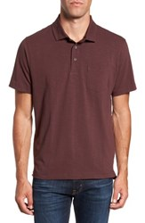 Tailor Vintage Men's Stretch Slub Jersey Polo Raspberry Fudge