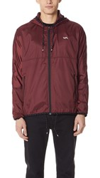 Rvca Hexstop Ii Jacket Red Brown