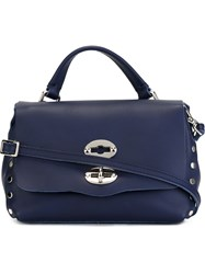 Zanellato Small 'Postina' Satchel Blue