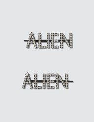 Ashley Williams Alien Hair Pins Silver