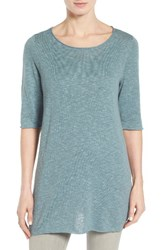 Eileen Fisher Women's Organic Linen And Cotton Slub Tee