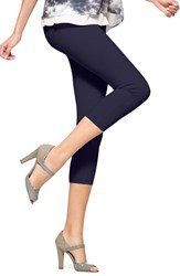 Women's Hue 'Super Smooth' Denim Capri Leggings Ink Wash