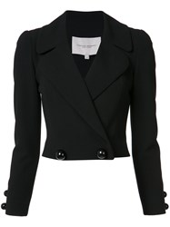 Carolina Herrera Double Breasted Cropped Jacket Black