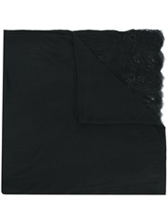 Ermanno Scervino Lace Detail Scarf Black